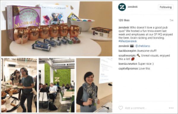 Zendesk Company Culture on Instagram