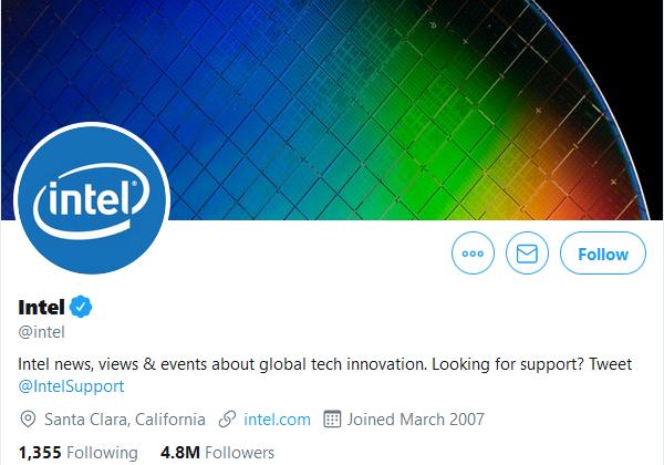 Intel Twitter