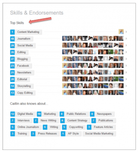 LinkedIn Top Skills Section