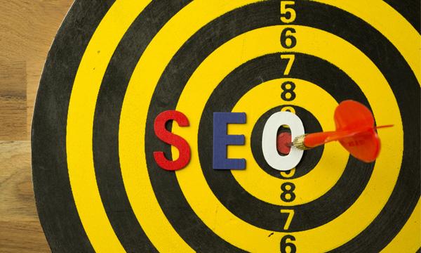 Colorful SEO Dartboard Image