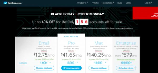 GetResponse Cyber Monday Deal