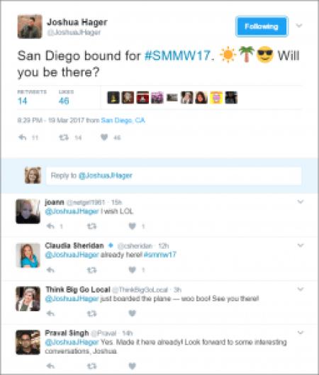 Social Media at Conferences - Twitter