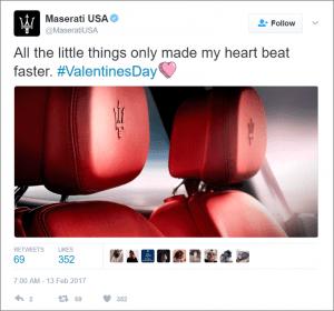 Maserati Valentine's Day Marketing