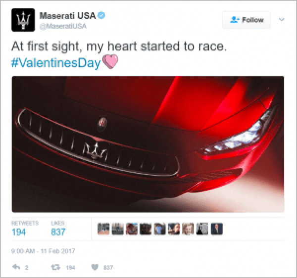 Maserati Valentine's Marketing
