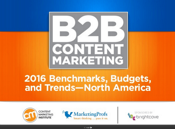 B2B Content Marketing Report 2016
