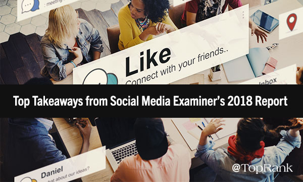 2018 Social Media Marketing Trends from Social Media Examiner Report