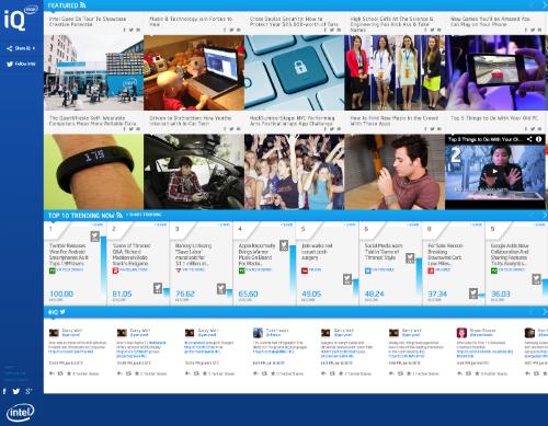 Intel IQ Social Hub