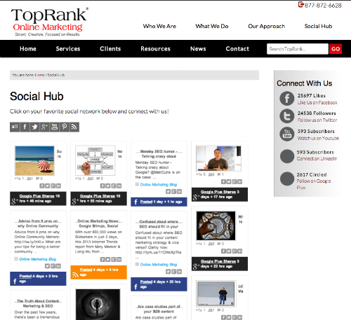 TopRank Online Marketing Social Hub