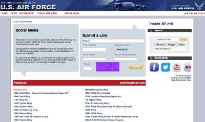 U.S. Air Force Social Hub