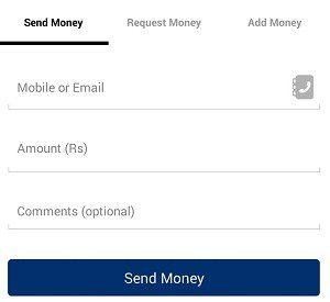send paytm amount
