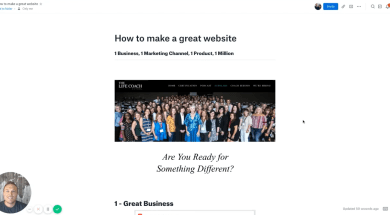 How to make a great website Header