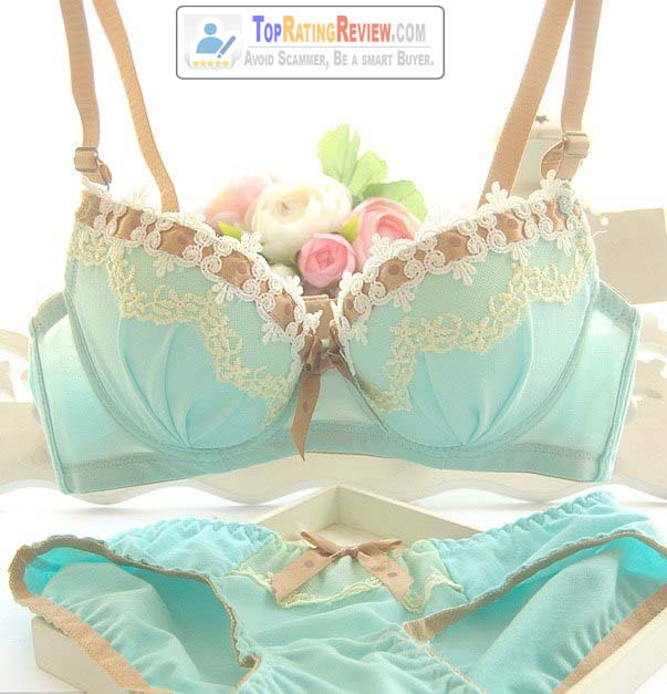 Embroidery Push up Korean bra set