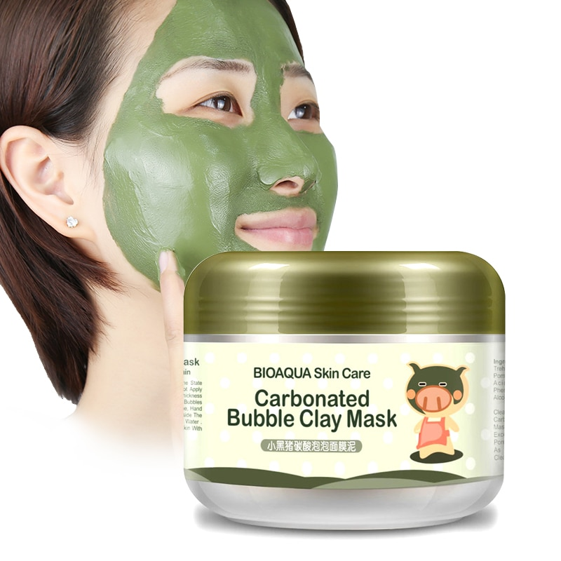 Bioaqua skin care sleep treatment mask whitening hydration stickers cleansing blackheads remover cosmetics face masks anti aging