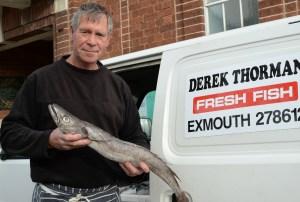 Derek Thorman brings his mobile fish van to Topsham three times a week