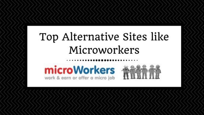 Top Alternative Sites like Microworkers