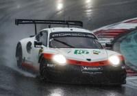 Lietz/Bruni fuhren in der Regenschlacht von Shanghai auf das Podest © Porsche AG