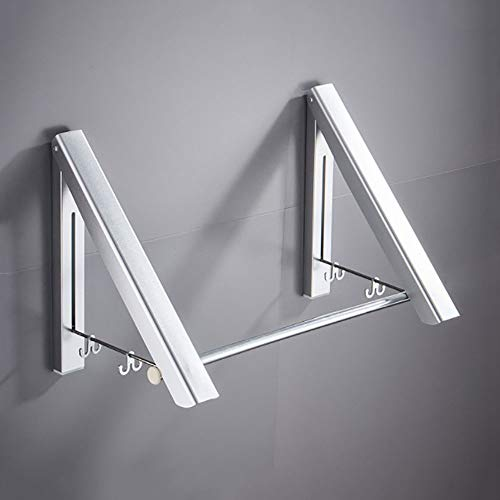 Folding Clothes Hanger Rack Folding Clothes Drying Rack Airer Clothes Laundry Washing Indoor Outdoor Not Punched for Socks Bed Linen Clothing Wall Mounted Clothes Hanger