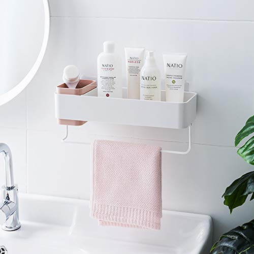 JMsDream Kitchen Shelves Wall Mounted Towel Rack Bathroom Storage Toiletries Kitchenware Holders