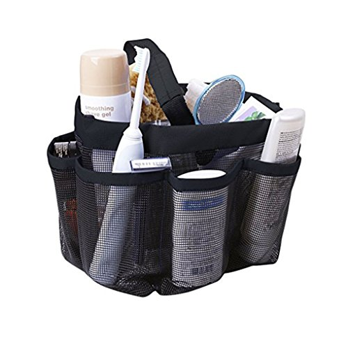 Quick Dry Mesh Shower Caddy Hanging Shower Tote Bag Toiletry Bath Organizer Makeup Comestic Storage Bag Basket with 11 Storage Pockets for Home Gym Travel Dorm Bathroom Washing Bag Case with Handle