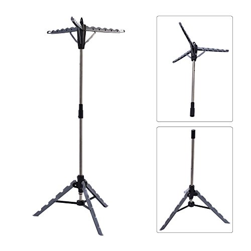 Clothes Hanger Drying Portable Multifunctional Retractable Laundry Racks Tripod