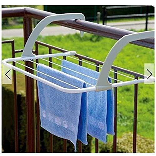 Lucoo Drying Rack IndoorOutdoor Easy Install Folding Clothes Drying Rack-Hanging Over The Door or on Bathroom Windowsill Guardrail Corridor Balcony