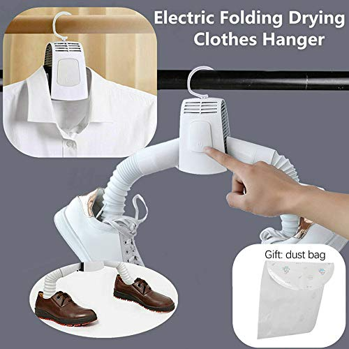 ⭐ Futurelove ⭐ Portable Mini Clothes Dryer Fast Drying Cloth Suit Hanger Dryer Household Travel Portable Dryer Electric Folding Clothes Shoes Drying Hanger Dryer Rack Machine 1PC  Shoes dryer tube