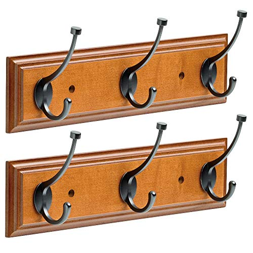 Franklin 2 Pack Brass 16 Hanging Coat Rack Wall Mounted Rail Organizer 3 Hooks Clothes Rack Heavy Duty