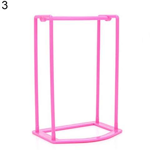Powerfulline Practical Creative Plastic Clothes Hanger Storage Home Organizer Companion Rack Storage Rack Hot Pink