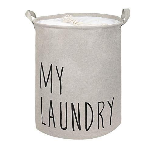 JiatuA Large Laundry Basket Collapsible Fabric Laundry HamperPortable Folding Washing Bin Large Waterproof Laundry Basket with Handles and PE Coating Inside for Washing RoomBaby Nursery