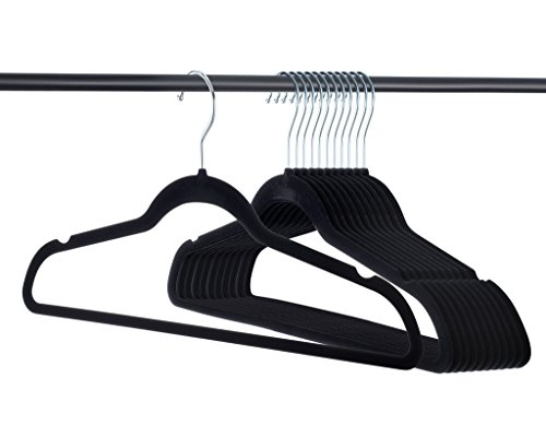 Home-it Premium Velvet Hangers Heavy Duty Clothes Hook Swivel 360-Ultra Thin 30 Pack 50 Pack