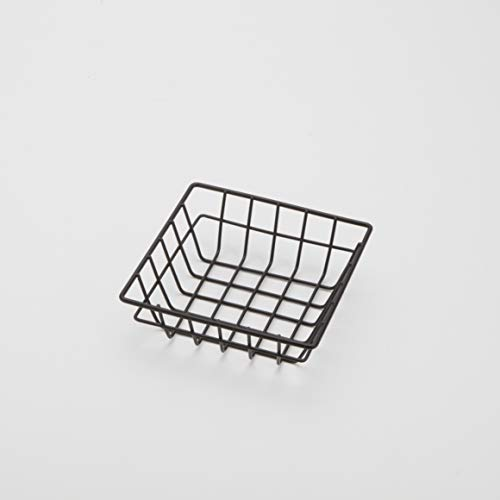American Metalcraft SQGB6 Square Wire Grid Basket Black 6-Inches