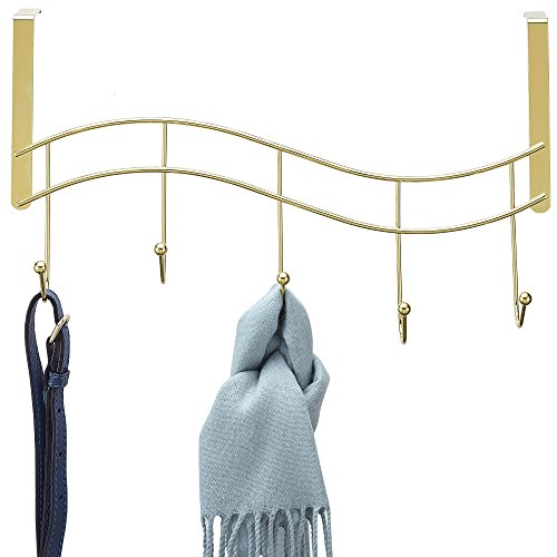 Better Houseware Door Hook Rack-Brass Plated