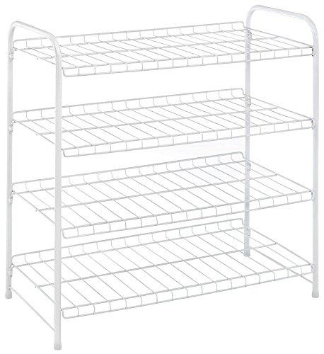 Whitmor White 4 Tier Closet Shelf