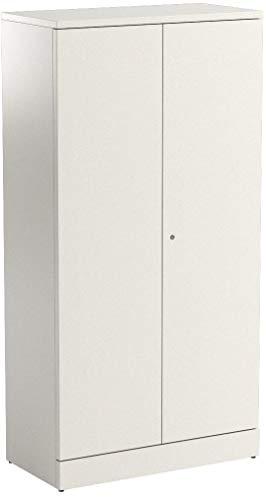 HON Metal Storage Cabinet  5 Shelves  36W x 18D x 72H  Putty Finish