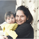 Poonam-with-her-baby