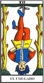 Significado del tarot: el colgado