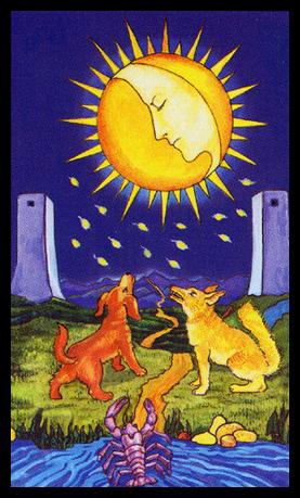 Carta de la Luna en el Tarot