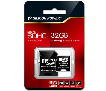 Silicon Power lanza la tarjeta de 32 GB de memoria micro SDHC