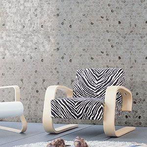 Hexagonale mozaiek in keramiek met een marmer look