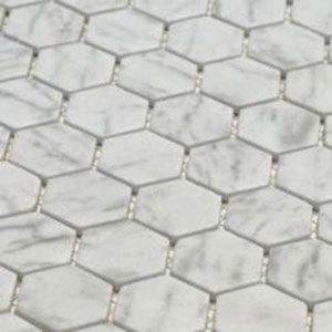 Mozaiek in carrara natuursteen