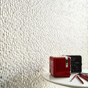 hexagonale relief tegels in formaat 30x60 voor de wand