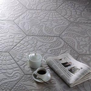 hexagon tegels met relief voor de vloer