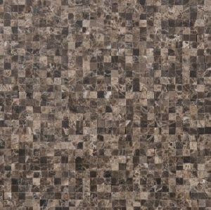 Bruine marmer micro mozaiek in emperador