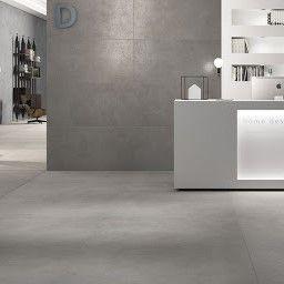 grote keramische betonlooktegels in formaat 120x120cm