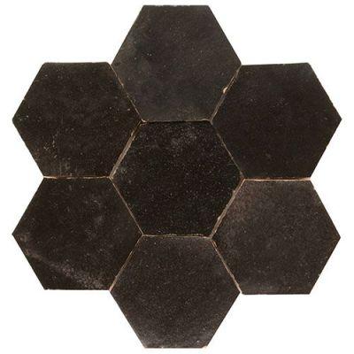 Hexagonale zelliges in zwart