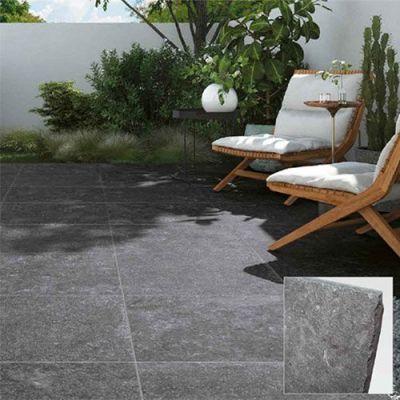 Keramisch arduin in 2cm voor buiten met verouderde kanten. Net als echte natuursteen die keramische blauwe steen. en keramische blauwe hardsteen vloertegels.