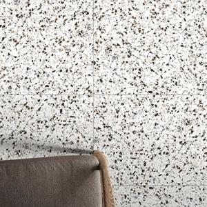 Witte terrazzo vloertegels in formaat 65x65cm