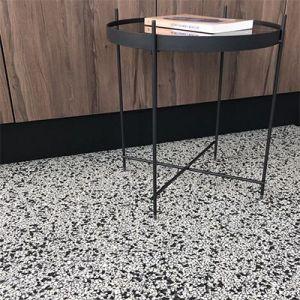 Zwart witte granito terrazzo marmer look tegels.