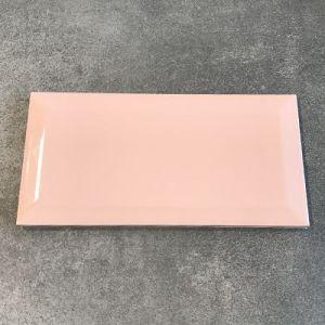 Baby roze metrotegel in formaat 10x20cm te koop bij Top Tegel 04 in Ieper.