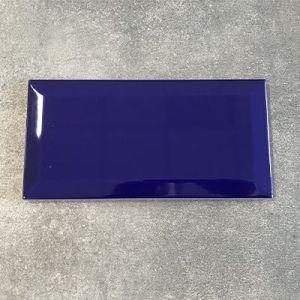 Kobalt blauwe metrotegels in formaat 10x20cm te koop in West Vlaanderen.